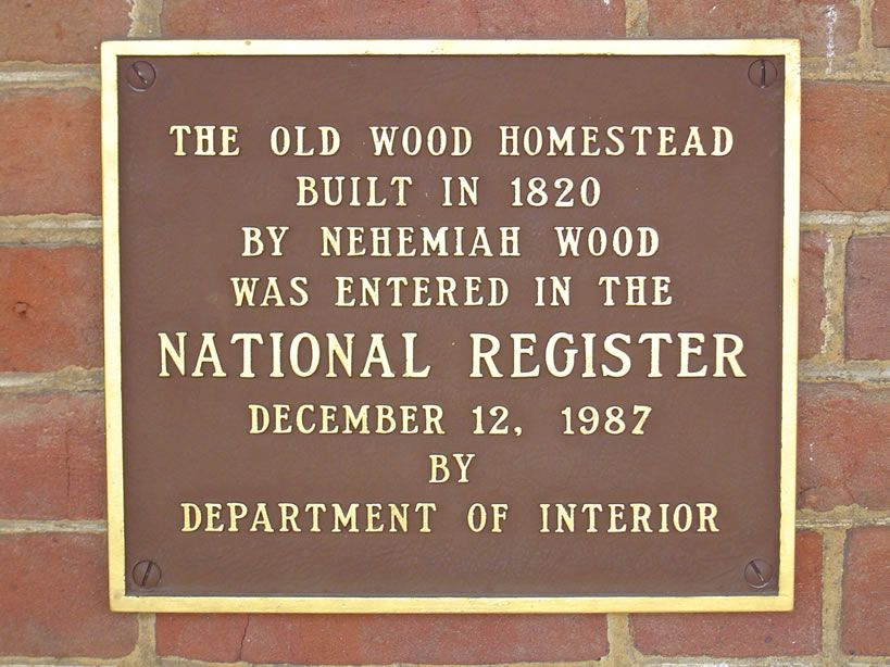 1820 Wood Homestead Marker